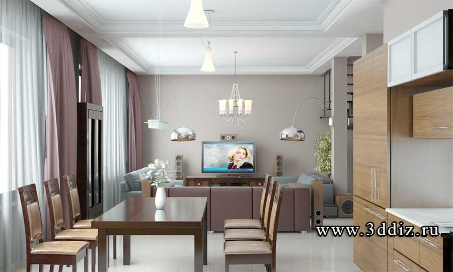 Дизайнер интерьера Людмила Майорова -- Интерьер гостиной загородного дома | мебель cassandra
