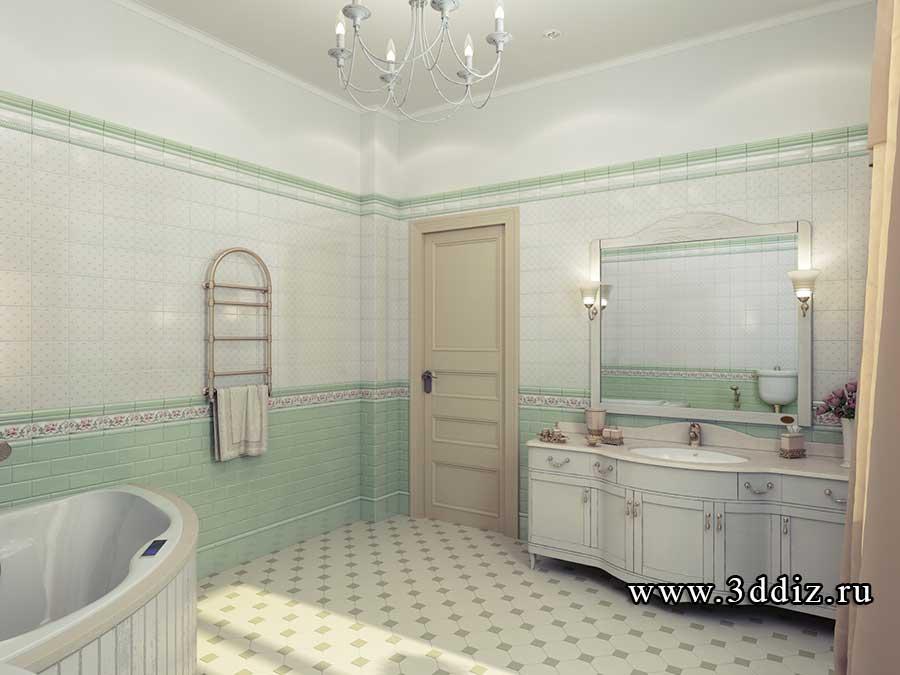 Дизайн ванной прованс