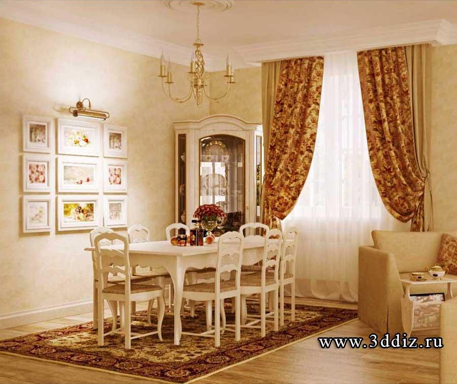 Дизайн столовой прованс