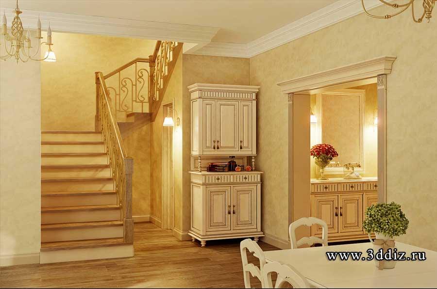 Дизайн лестницы прованс