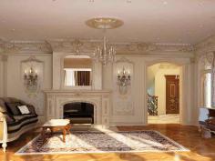 Интерьер гостиная в классическом стиле - Дизайн гостиной в классическом стиле