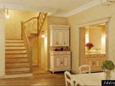 Дизайнер интерьера Людмила Майорова -- Дизайн лестницы в стиле прованс
