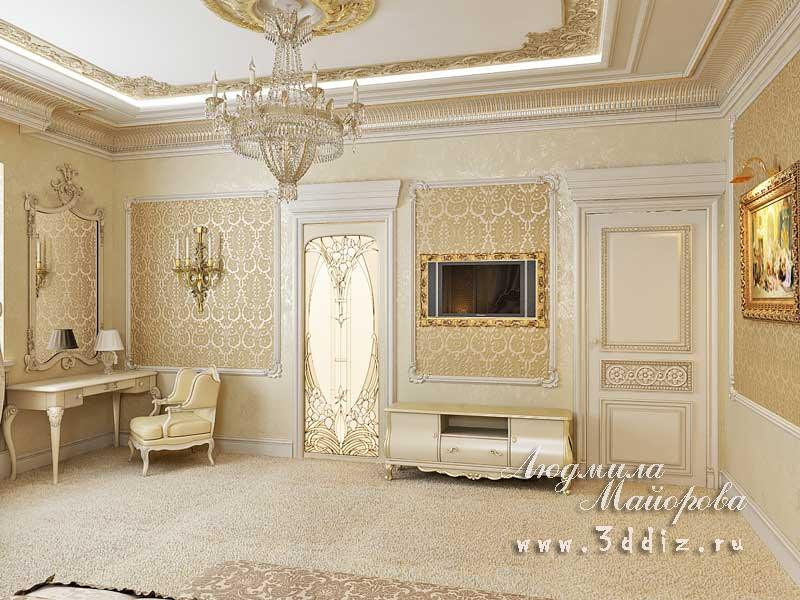 Дизайн в стиле шале спальни