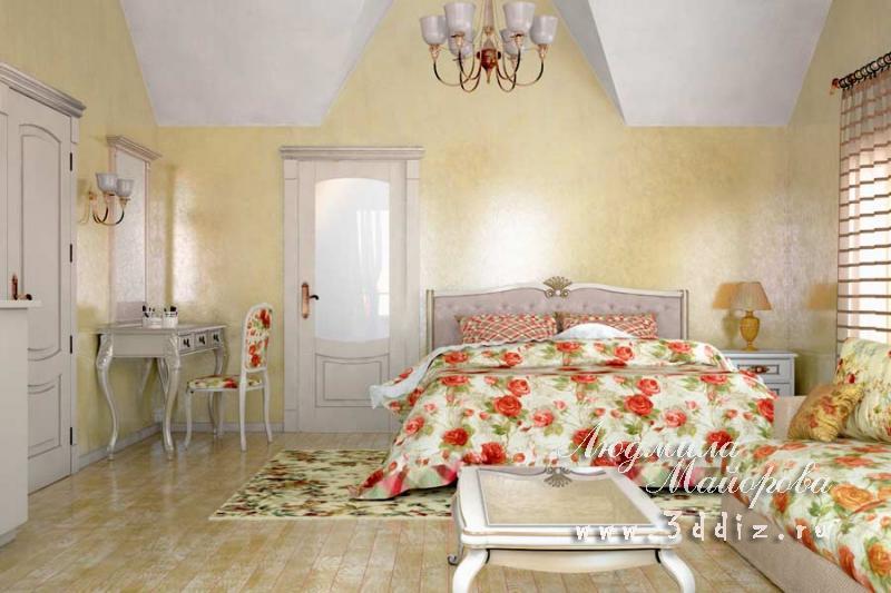 Интерьер гостиной спальни кухни 158