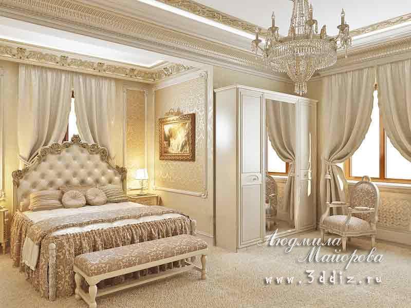 Дизайн комнаты классика фото