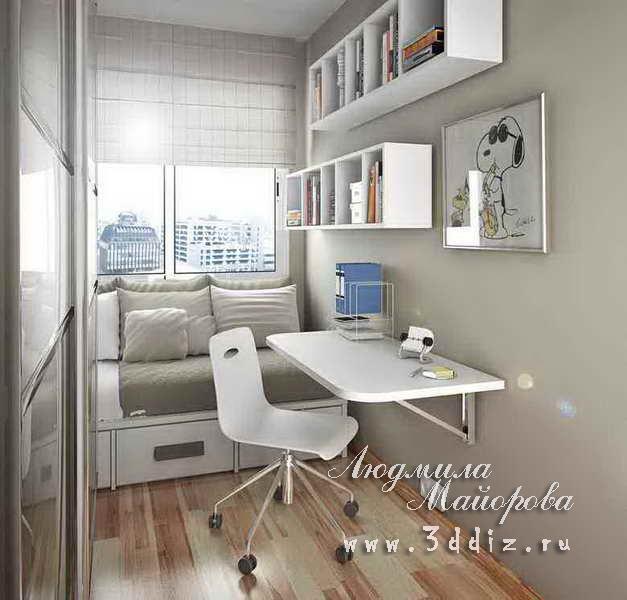 Фото интерьера узкой комнаты