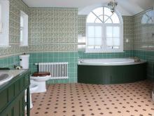 Дизайнер интерьера Людмила Майорова -- Дизайн ванной комнаты зеленого цвета