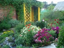 Дизайнер интерьера Людмила Майорова -- Преображение сада с помощью цветников