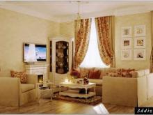 Дизайнер интерьера Людмила Майорова -- Дизайн гостиной в стиле прованс